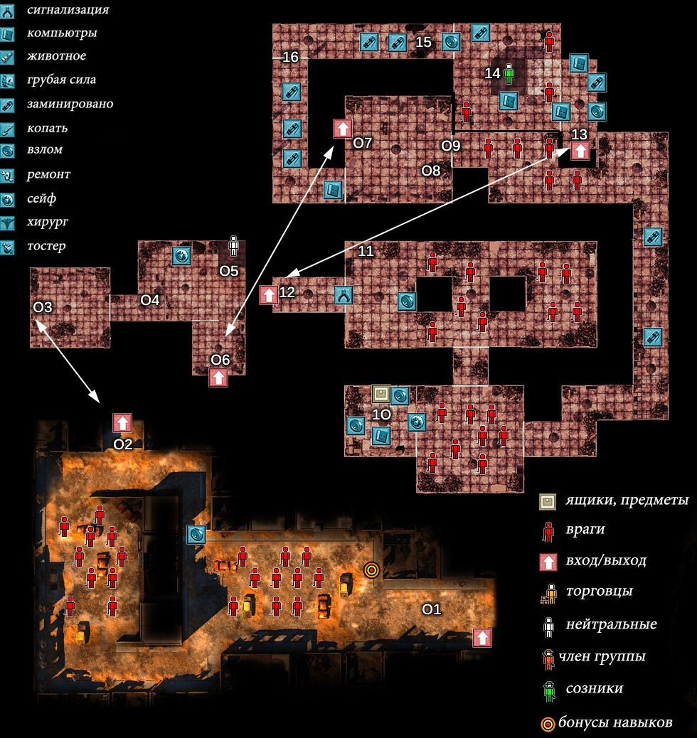 Карта Деревня Дарвин