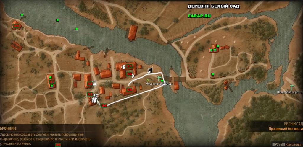 Карта самой деревни