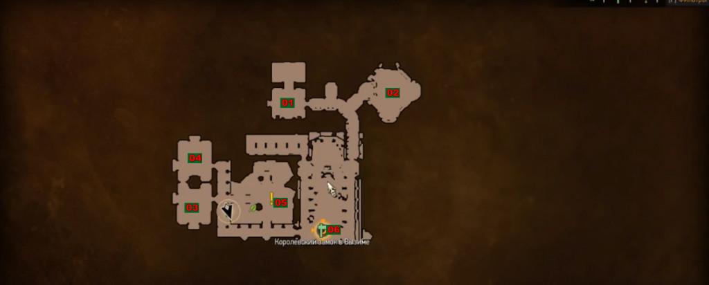 карта королевский замок в вызиме